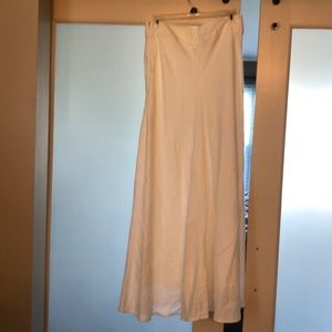 Banana Republic White Linen Maxi Skirt